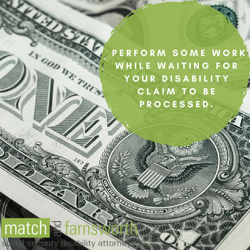 Working While Waiting to Receive Disability Benefits